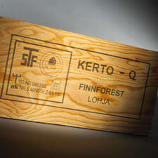 Industrial Marking Systems Example On Wood